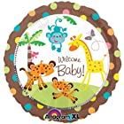 Fisher Price 18 Welcome Baby Shower Jungle Animal Party Balloon Giraffe Monkey