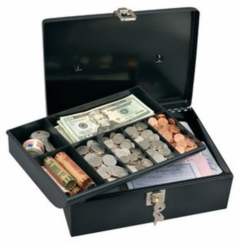 Master Lock Cash/Storage Box 11 In. X 7-3/4 In. X 4 In. Meta