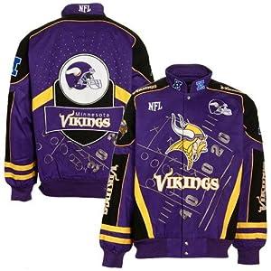 NFL Minnesota Vikings Purple Playbook Twill Jacket (XX-Large) by Football Fanatics