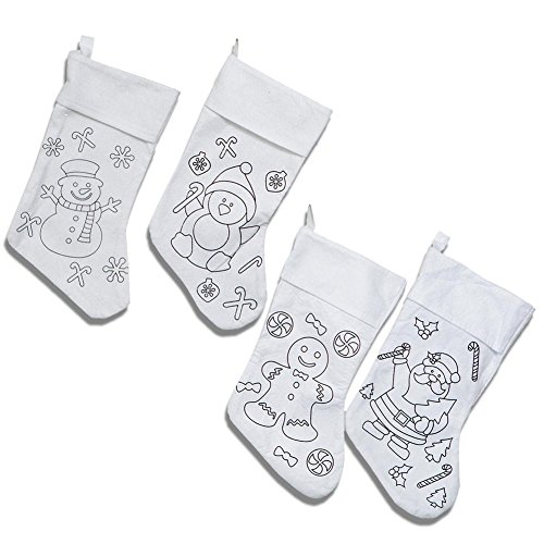 Color Your Own Christmas Stocking - 1