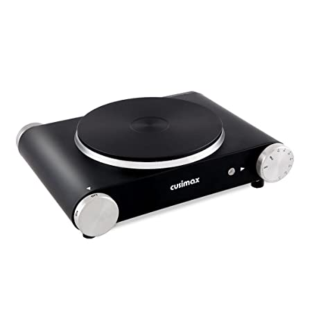 Cusimax 1500W Electric Countertop Burner, Portable Single Hot Plate Via Amazon