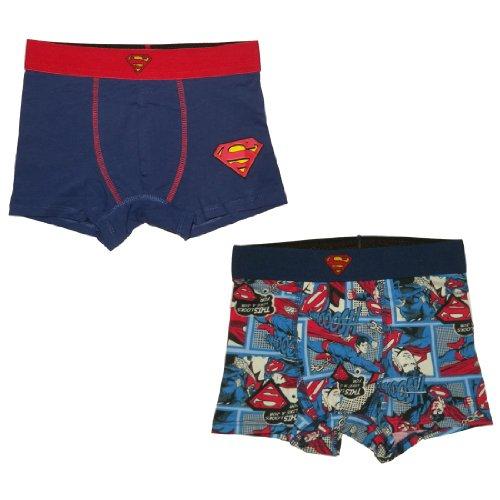 (Pack of 2) Superman Jungen Finest Boxer Shorts / Unterwäsche 6-8 Mehrfarbig