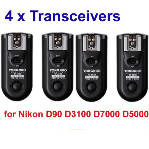 Yongnuo RF-603 wireless flash trigger 4PCS for NIKON D90 D5000 D3100 D7000 radio flash trigger synchronously trigger... Black Friday & Cyber Monday 2014