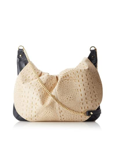 Laura Vela Women's Ibi Shoulder Bag, Eggshell