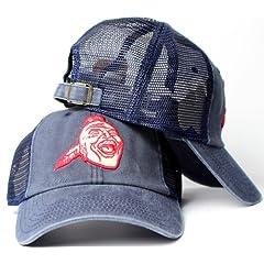 Atlanta Braves MLB American Needle Raglan Bones Soft Mesh Back Slouch Twill Cap by American Needle