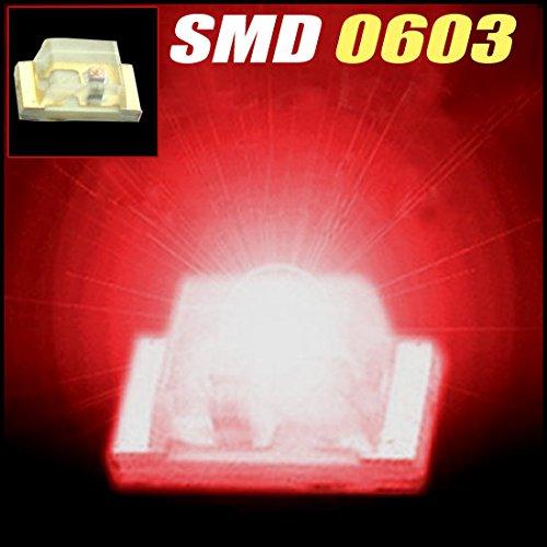 100Pcs X Super Bright 0603 Red Smd Smt Led 0603 Smd/Smt Red Led