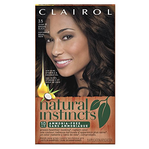 Clairol Natural Instincts, 3.5 / 35 Ebony Mocha Brown Black, Semi-Permanent Hair Color, 1 Kit (Semi Permanent Brown Hair Dye compare prices)