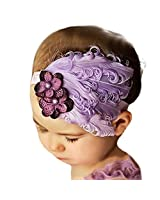 1pc Bandeau De Cheveux De Fleur pour Enfant Fille Plume De Paon