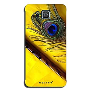 Mozine Flute And Feather Printed Mobile Back Cover For Samsung Alpha