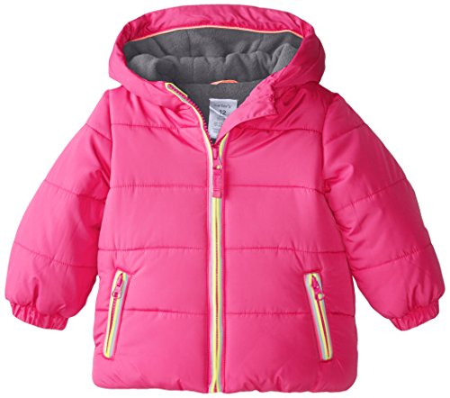 Carter's Baby Girls' Heavyweight Jacket, Pink, 12 Months