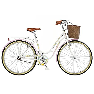 Viking Women's Crystal 26 Inch Wheel Heritage Bike - Pearl White, 18 Inch