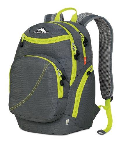 High Sierra Boondock Backpack (19 x 13 x 8.25-Inch, Charcoal/Chartreuse)