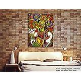 Tamatina Kerala Mural Canvas Paintings - Sri Krishna - Muralidhar - Traditional Canvas Paintings