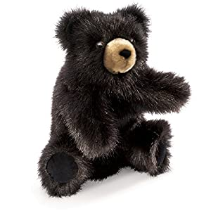 Folkmanis Puppet Baby Black Bear by Folkmanis Puppets