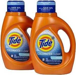 Tide Coldwater Clean Liquid Laundry Detergent - 46 oz - Fresh - 2 pk