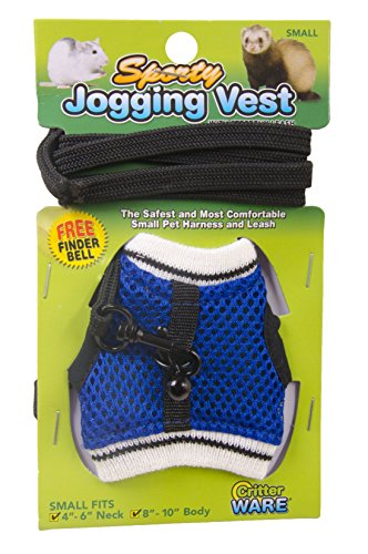 Ware Manufacturing Nylon Walk-N-Vest Pet Harness and Leash for Small Pets, Small - Colors May Vary