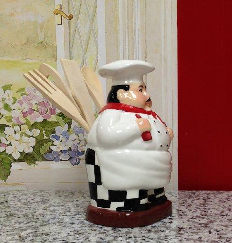 Fat Chef Kitchen Utensil Spoon Tool Holder Set