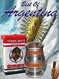 ARGENTINA KIT: Mixed Gourd: Algarrobo tree wood & alluminum PLUS Yerba mate herb tea PLUS Metal Nickel straw