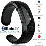 inDigi® OLED Display Smart Watch Bluetooth Bracelet with Call Answer / Time / Music / Caller ID / Vibration / Ringtone / Anti-lost (US Seller)