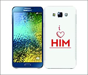 Galaxy Printed 1731 Chiling luv him Hard Cover for Samsung S3 NEO
