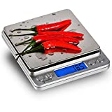 Gosund Stainless Digital Kitchen Scale with Backlit Display of Refined Accuracy 0.1g / 0.005oz 3000g(Silver)