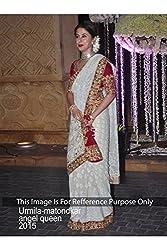Designer WHITE Georgette Bollywood Replica Saree Sari