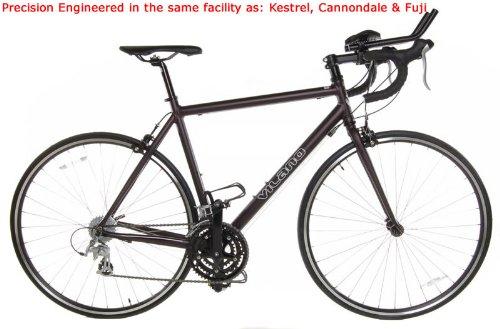 Black 50cm Vilano FORZA Triathlon TRI Bike - Shimano STI