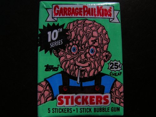 Topps Series 10 Garbage Pail Kids Trading Cards Unopened Wax Pack - 1