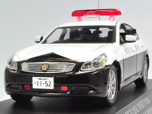 RAIS 1/43 NISSAN SKYLINE 370GT V36 PATROL CAR 2009 埼玉県警察高速道路交通警察隊車両