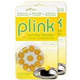 Plink Garbage Disposal Cleaner and Deodorizer, Original Fresh Lemon Scent, Value 2-Pack for 20 Cleanings