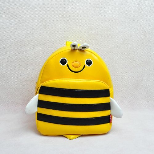 Children Bag School Cartoon Animal Backpack Baby Toddler Kid'S Leather Schoolbag Shoulder Bag Kindergarten Bag (Bee) front-674954