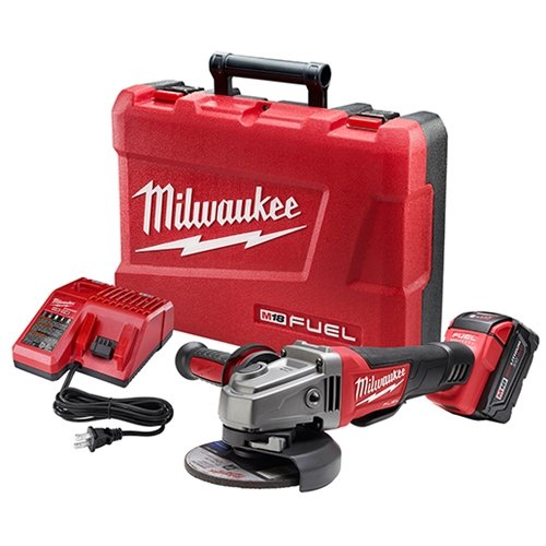 "Milwaukee 2780-21 M18 Fuel 4-1/2 - 5"" Grinder, Paddle Switch No-Lock W/ 1 Battery front-69245"