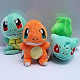 POKEMON-BULBASAUR-CHARMANDER-SQUIRTLE-SET-3-PELUCHES-3-PLUSH-TOYS-SET