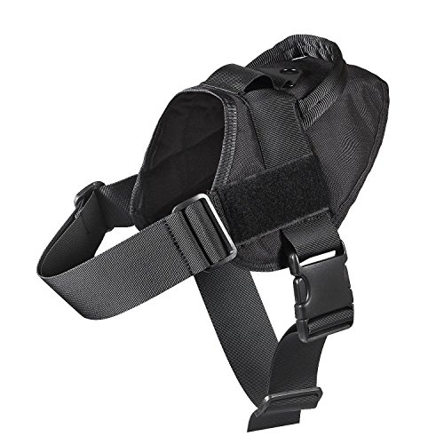 Feliscanis Tactical Dog Training Patrol Harness Nylon Adjustable Service dog vest IN TRAINING Velcro Patches Black size L (Black Service Dog Vest compare prices)