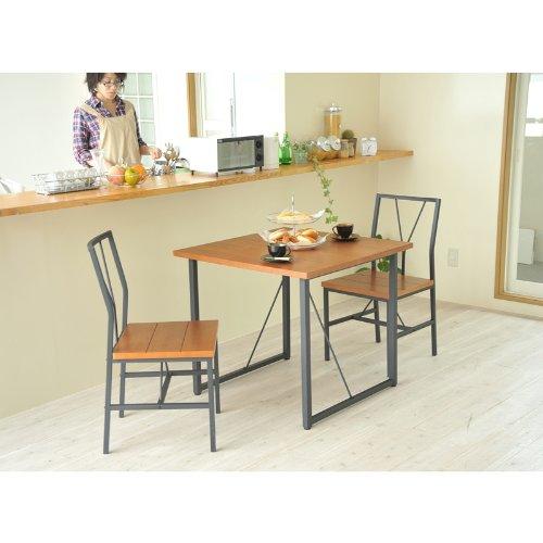 カフェスタイルダイニング テーブル 幅80 th-016-bkbr