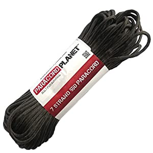 Paracord Planet 100' 550lb Type III Charcoal Gray Paracord
