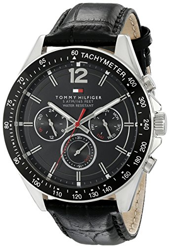 Tommy-Hilfiger-Mens-1791117-Sophisticated-Sport-Watch-With-Black-Leather-Band