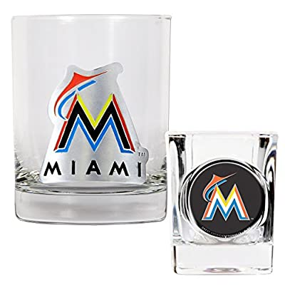 Great American MLB Rocks and Square Shot Glass Set