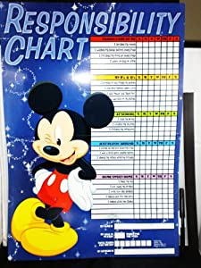 Disney Mickey Mouse 'Responsibility Chart' & Magenets for Kids