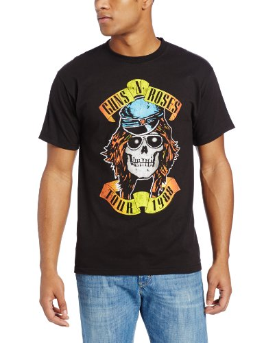 Bravado Men's Guns N' Roses 1988 Tour T-Shirt, Black, Many Colors - S to XXXXL