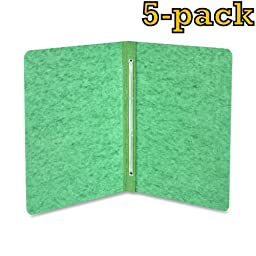 ACCO Pressboard Report Cover, Letter, 5 pack (Green)