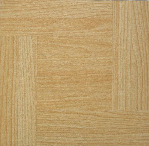 100 VINYL FLOOR TILES: Traditional Pine SELF-STICK NEW