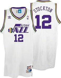 NBA Utah Jazz John Stockton Swingman Jersey, White by adidas