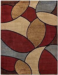 Multicolor Oval Tiles Contemporary 5\'3\