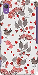 xperia z2 back case cover ,Bird Picnic Designer xperia z2 hard back case cover. Slim light weight polycarbonate case with [ 3 Years WARRANTY ] Protects from scratch and Bumps & Drops.