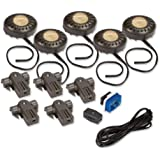 Amertac XPV50RCL 20-Watt Xenon Direct-It Accent Light Kit Pucks, Bronze, 5-Pack