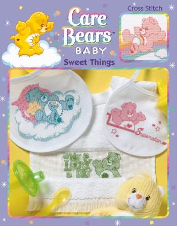 Care Bears Cross Stitch Baby Sweet Things Book front-1036666