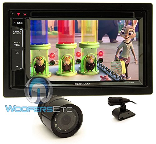 "Kenwood DDX24BT In-Dash 2-DIN 6.2"" Touchscreen DVD Receiver with Android/iPhone Control, Pandora, Bluetooth Radio, and Spotify and XO Vision HTC36 Night Vision Camera"