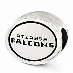 Sterling Silver Antiqued Atlanta Falcons Nfl Bead