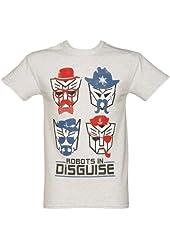 Mens Transformers Retro Robots in Disguise Heavyweight T Shirt